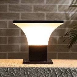 square gate lamps outdoor lighting black white